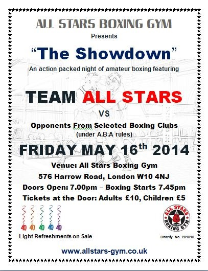 THE SHOWDOWN – All Stars Open Boxing Show!
