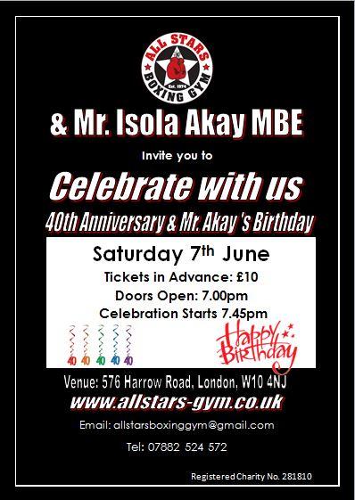All Stars 40th Year Anniversary & Mr Akay's Birthday bash